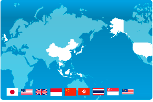 Worldwide, Japan, the US, the UK, South Korea, China, Hong Kong, Thai, Singapore, Malaysia and Indonesia